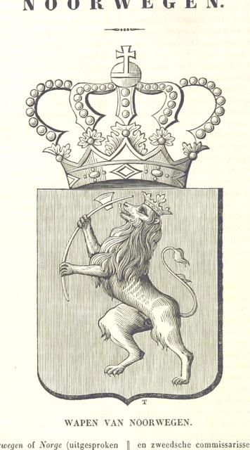 """Norway from """"De Aardbol. Magazijn van hedendaagsche land- en volkenkunde ... Met platen en kaarten. [Deel 4-9 by P. H. W.]"""""""