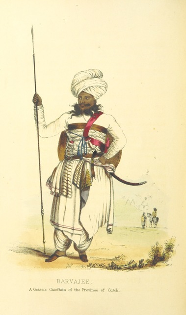 "Portrait from ""Cutch; or, Random Sketches, taken during a residence in one of the Northern Provinces of Western India: interspersed with legends and traditions ... Illustrated with engravings from ... drawings by the author"""