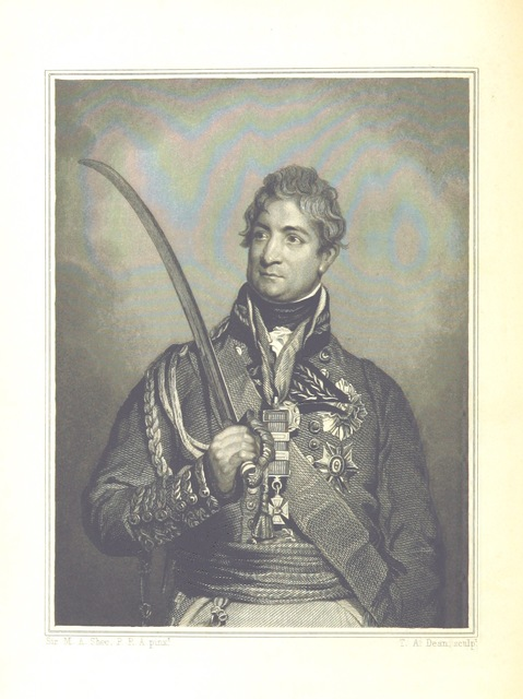 """portrait from """"The Victories of the British Armies, with anecdotes illustrative of modern warfare. By the author of """"Stories of Waterloo"""" [i.e. William Hamilton Maxwell], etc. [With plates.]"""""""