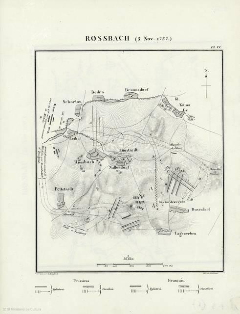 Rossbach (5 Nov. 1757) : [mapa]