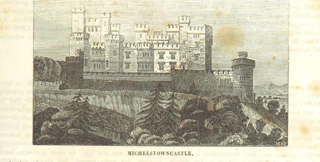 """seat of the Irish Earls of Kingston from """"De Aardbol. Magazijn van hedendaagsche land- en volkenkunde ... Met platen en kaarten. [Deel 4-9 by P. H. W.]"""""""