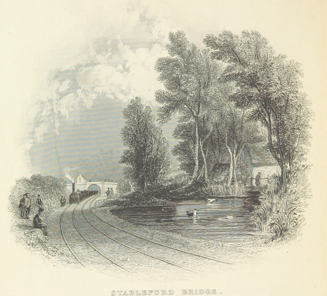 """Stableford Bridge from """"The Book of The Grand Junction Railway, being a history and description of the line from Birmingham to Liverpool and Manchester ... By T. Roscoe, assisted by the resident engineers of the line"""""""