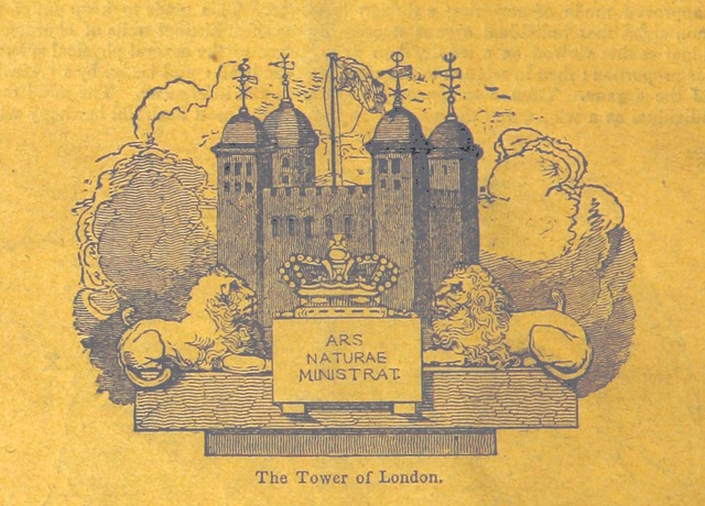 "Tower of London from ""A Lecture on the Discovery of America by the Northmen, five hundred years before Columbus ... Fourth edition, with additions"""