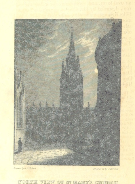 """University Church of St Mary the Virgin from """"[The Oxford University and City Guide ... New edition, with ... additions.]"""""""
