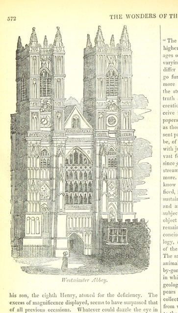 "Westminster Abbey from ""The Wonders of The World in Nature and Art. Edited by H. Ince"""