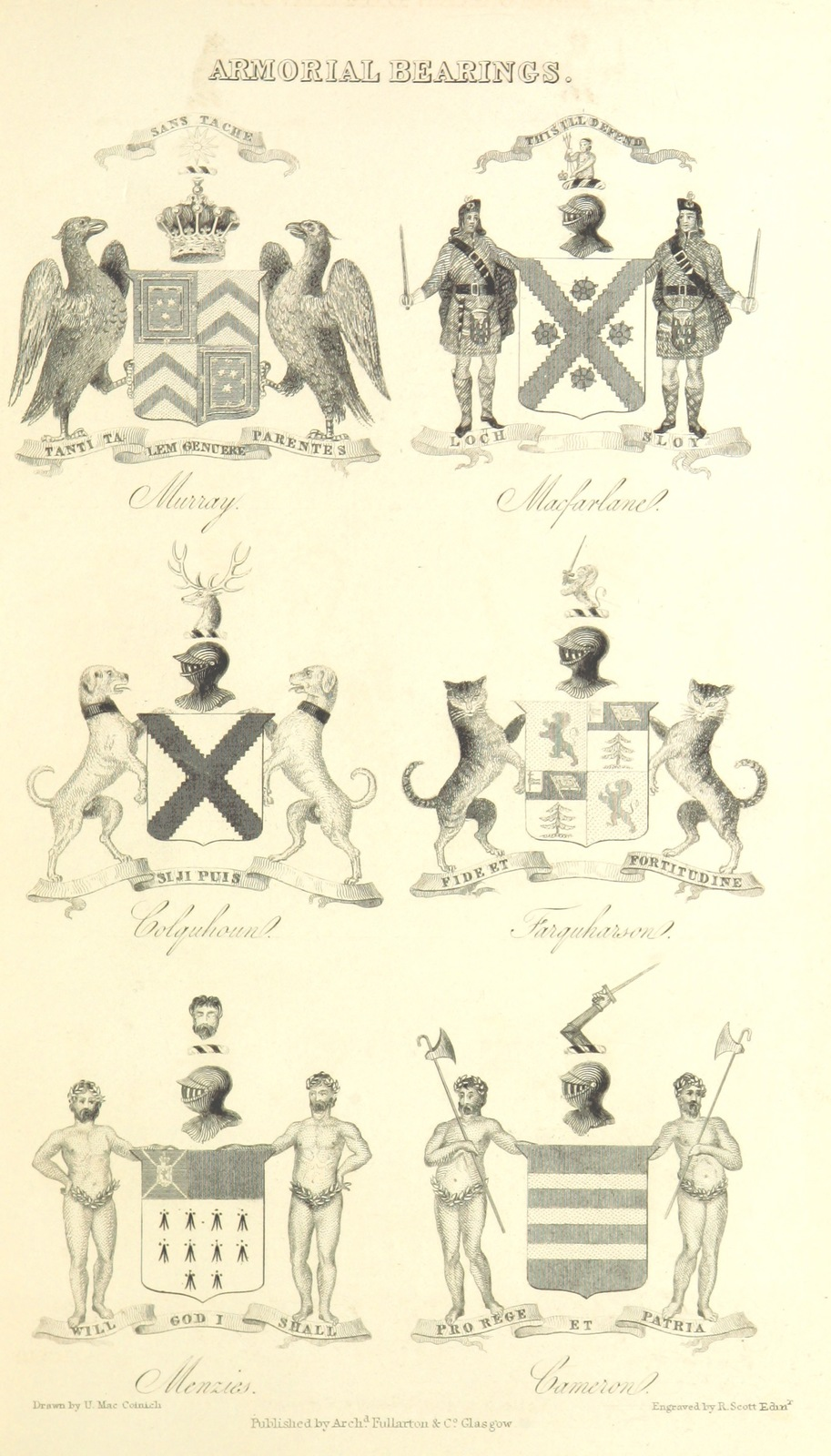"""coat of arms from """"[A History of the Highlands and of the Highland Clans"""