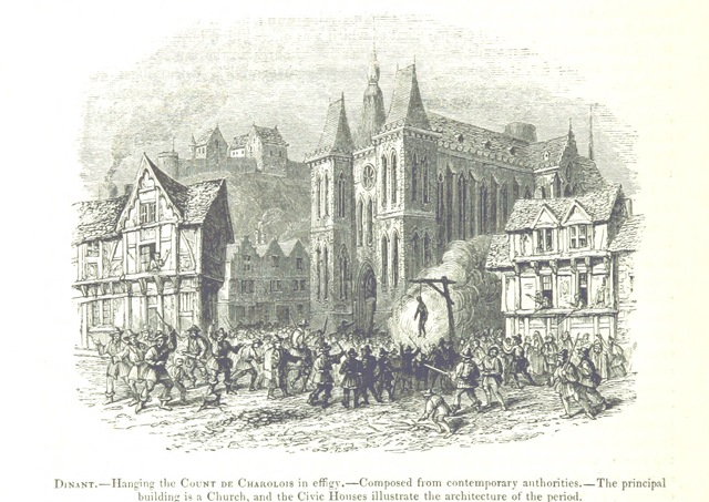 "Collegiate Church of Notre-Dame from ""[The Chronicles of E. de Monstrelet ... Translated by T. Johnes. [With plates.]]"""