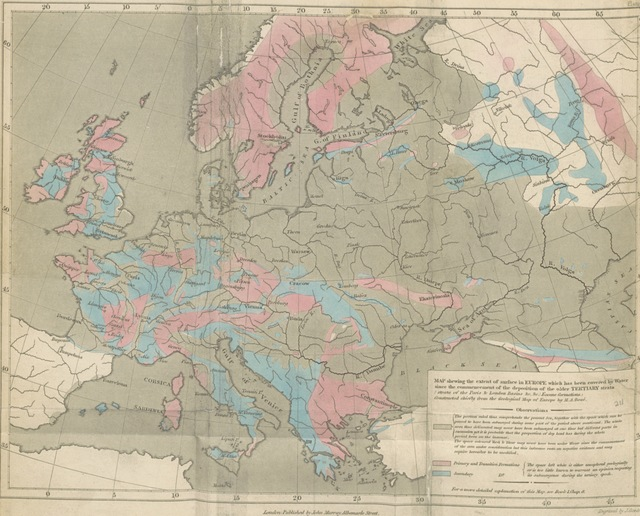 "Europe from ""[Principles of Geology, being an attempt to explain the former changes of the earth's surface, by reference to causes now in operation.]"""