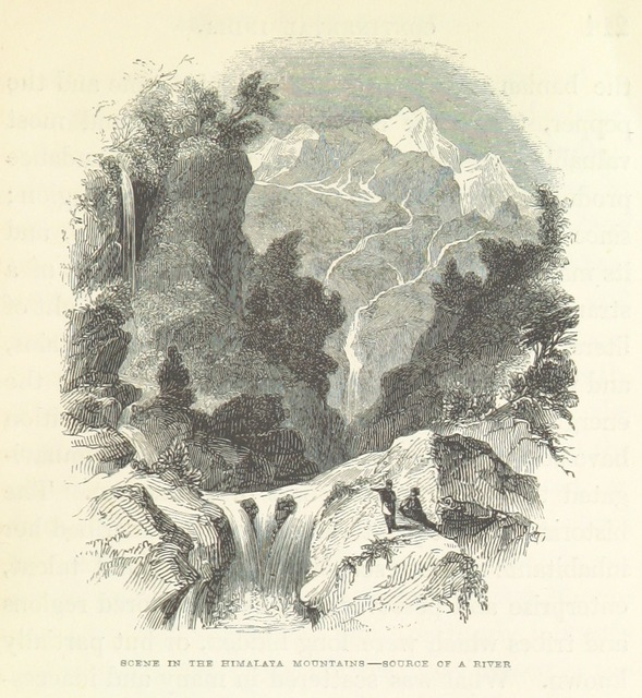 "Himalaya from ""Continental India. Travelling sketches and historical recollections, illustrating the antiquity, religion, and manners of the Hindoos, the extent of British Conquests, and the progress of missionary operation"""
