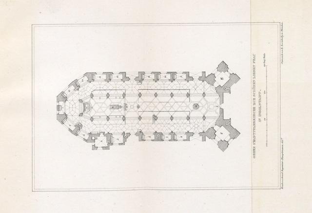 """map from """"Die Stadtpfarrkirche zu Unserer lieben schönen Fracu in Ingolstadt. Monographie, etc"""""""