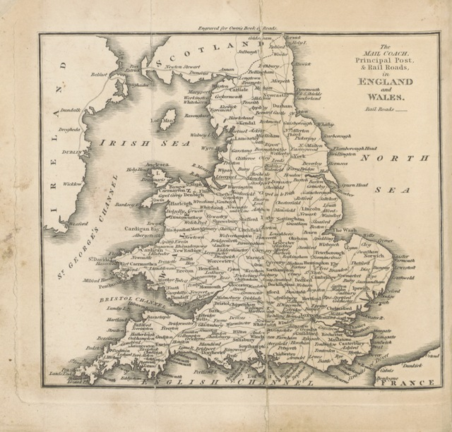 "map from ""Owen's New Book of Roads: or, a Description of the Roads of Great Britain ... New edition, corrected, etc"""