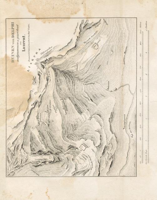 """map from """"Reisen und Forschungen in Griechenland. ... Erster Theil. Reise über Delphi durch Phocis und Boeotien bis Theben, etc"""""""
