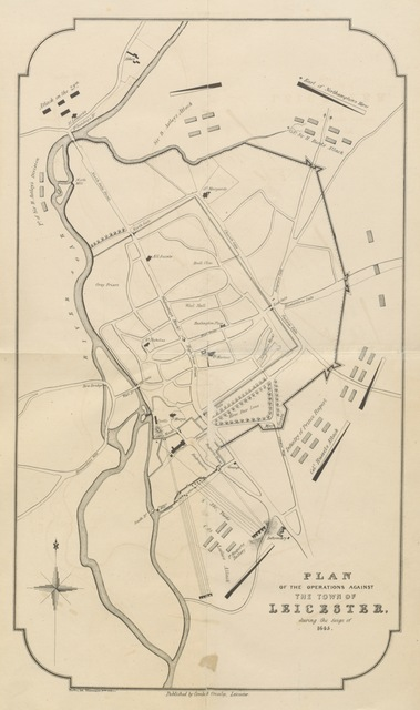 """map from """"The History of Leicester during the ... Civil War. A lecture, etc"""""""