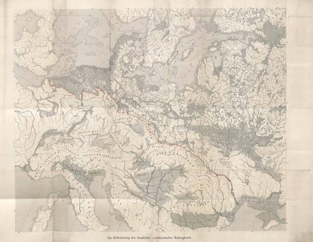 """map from """"Vaterländische Geschichte von der frühesten Zeit bis um das Ende des dreizehnten Jahrhunderts ... bearbeitet von R[uehle] v. L[ilienstern]"""""""