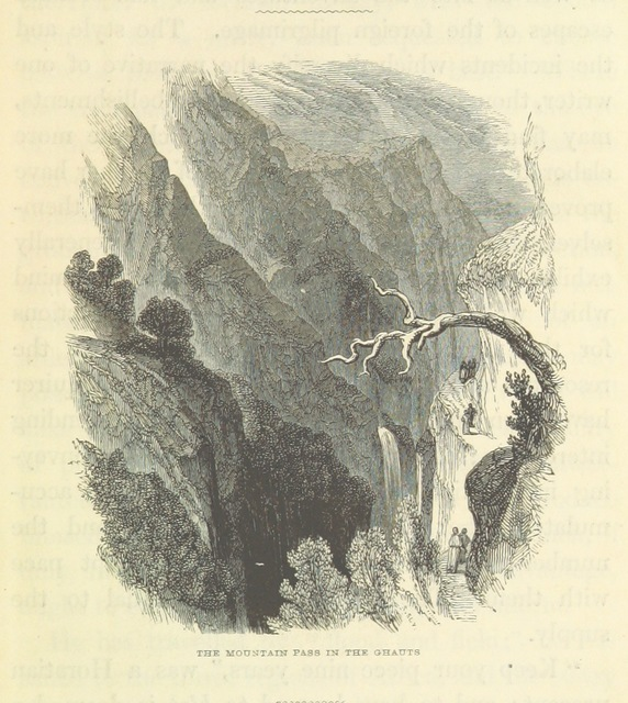 "mountain from ""Continental India. Travelling sketches and historical recollections, illustrating the antiquity, religion, and manners of the Hindoos, the extent of British Conquests, and the progress of missionary operation"""