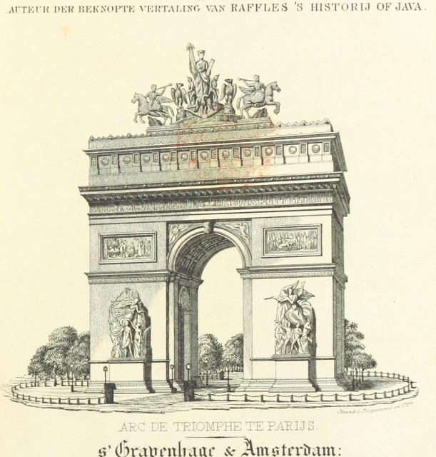 """Paris from """"Reizen uit Oost Indie naar Europa in Engeland, Nederland, Duitschland, Frankrijk en Zwitserland gedaan in 1836"""""""