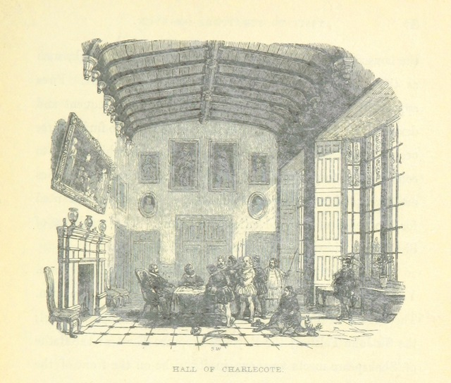 """Tudor great hall from """"Visits to remarkable places, old halls, Battle-fields, and scenes illustrative of striking passages in English History and Poetry"""""""