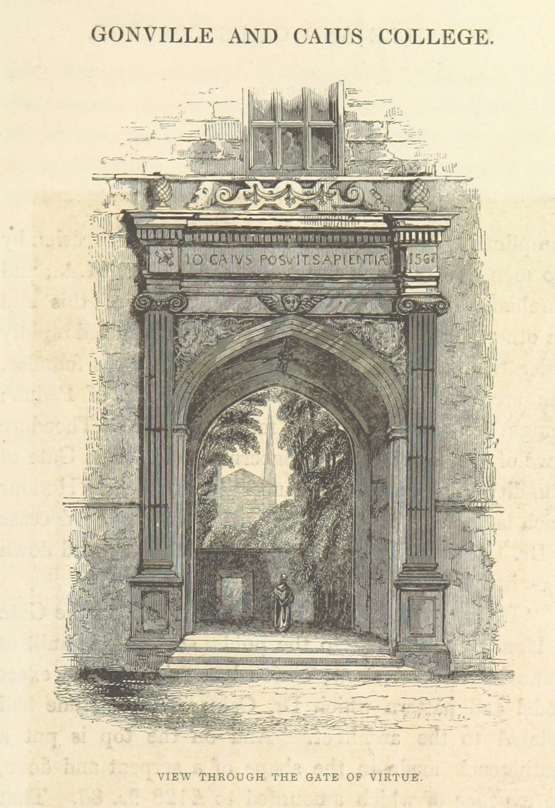 """Architecture from """"Le Keux's Memorials of Cambridge: a series of views of the colleges, halls, and public buildings, engraved by J. Le Keux; with historical and descriptive accounts by Thomas Wright ... and the Rev. H. Longueville Jones"""""""