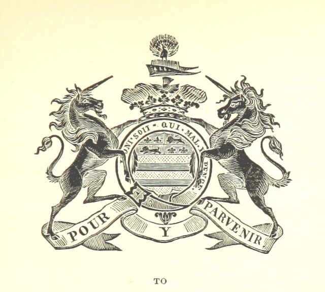 "coat of arms from ""The history of Belvoir Castle, from the Norman Conquest to the Nineteenth Century, etc"""