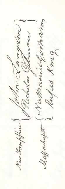"""Handwriting from """"The Papers of J. Madison, ... being his Correspondence and ... his Reports of Debates. ... Published from the original manuscripts ... by ... H. D. Gilpin"""""""