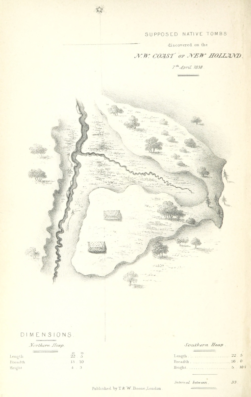 Map Of North West Australia.Map From Journals Of Two Expeditions Of Discovery In North West And