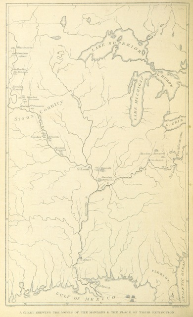 """map from """"Letters and Notes on the Manners, Customs, and Condition of the North American Indians. [With plates.]"""""""