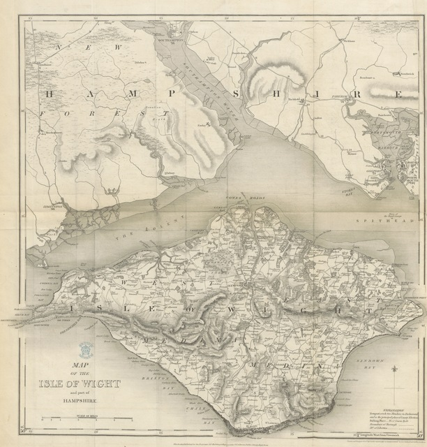 """map from """"The Isle of Wight; its past and present condition, and future prospects"""""""