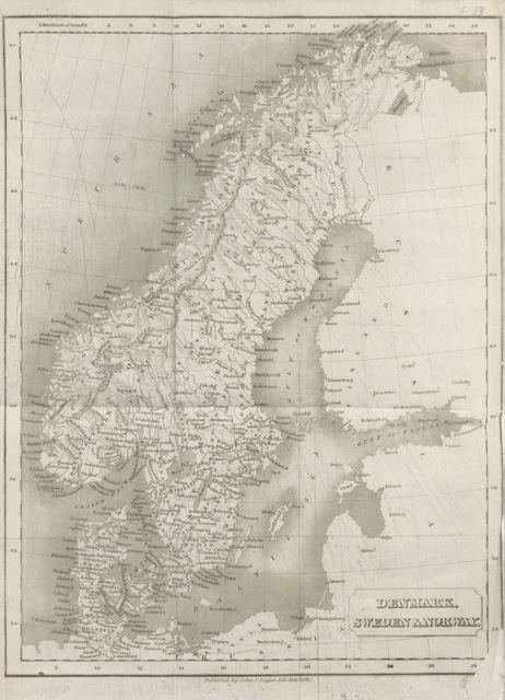 """map from """"Visit to Northern Europe: or sketches descriptive, historical, political and moral, of Denmark, Norway, Sweden and Finland, and the free cities of Hamburg and Lubeck, etc"""""""