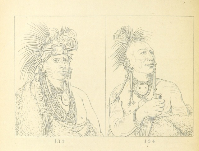 """portrait from """"Letters and Notes on the Manners, Customs, and Condition of the North American Indians. [With plates.]"""""""