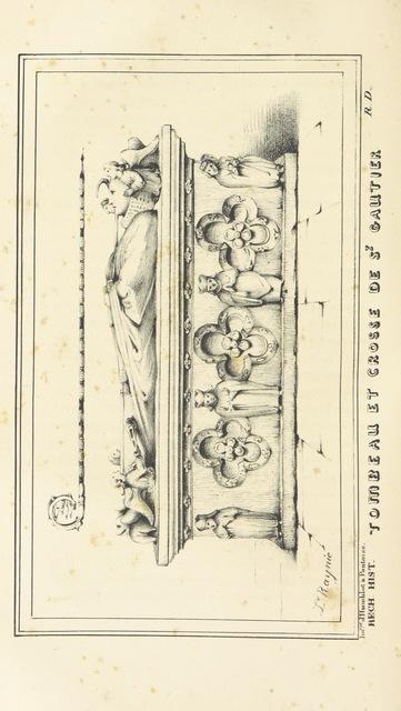 """Walter of Pontoise (c. 1030 – c. 1099) from """"Recherches historiques ... sur la ville de Pontoise ... Ouvrage enrichi de planches, etc"""""""
