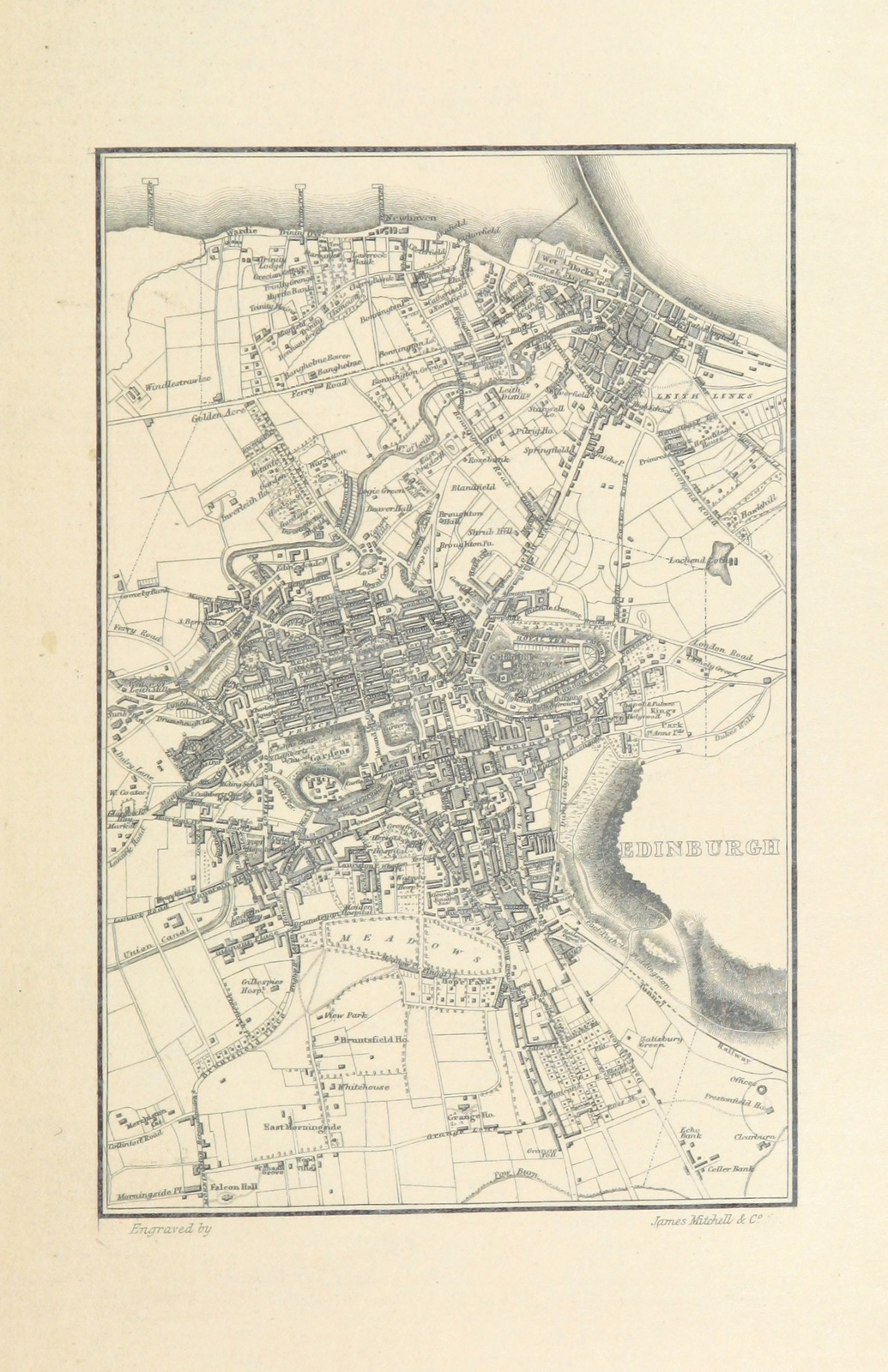 """Edinburgh from """"The Topographical, Statistical, and Historical Gazetteer of Scotland"""""""
