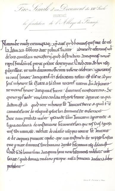"""manuscript from """"Revue rétrospective normande. Documens inédits pour servir à l'histoire de Rouen et de la Normandie. Recueillis et publiés par A. Pottier. [A reissue of pamphlets originally published as appendices to the monthly parts of """"La Revue de Rouen"""" from 1837 to 1841.]"""""""