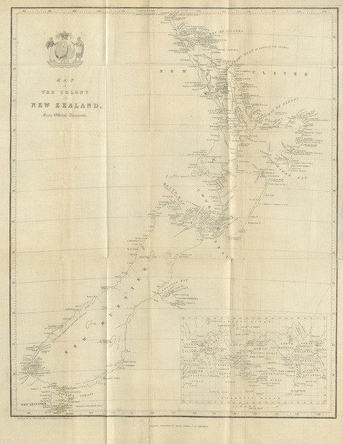 "map from ""[An Account of the Settlements of the New Zealand Company ... Fourth edition.]"""