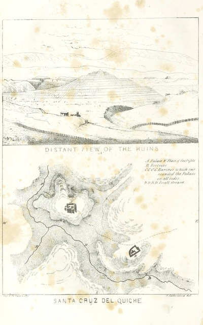 """map from """"Incidents of travel in Central America, Chiapas and Yucatan ... Illustrated. ... New (tenth) edition"""""""