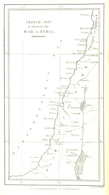 """map from """"Narrative of the late Expedition to Syria, under the command of Admiral the Hon. Sir Robert Stopford"""""""