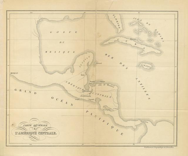 """map from """"Rapport officiel de M. de Puydt, Colonel du Génie, Chef de la Commission d'Exploration dans l'Amérique Centrale"""""""