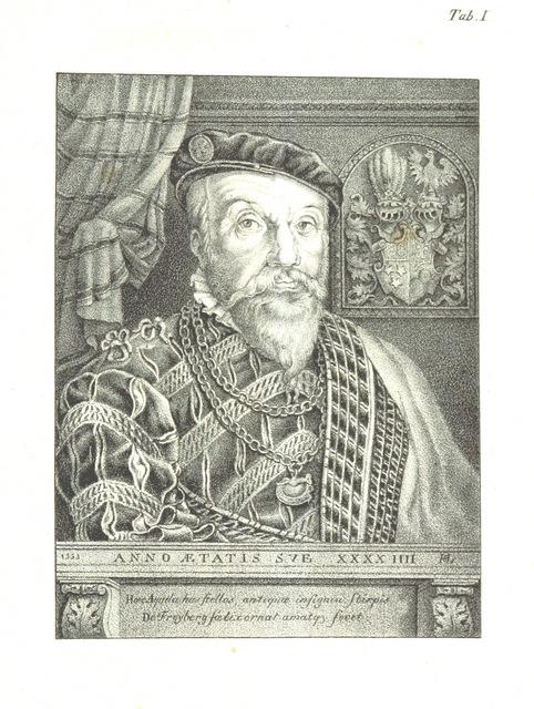 """portrait from """"Die goldene Chronik von Hohenschwangau, der Burg der Welfen, der Hohenstauffen und der Scheyren. [With plates.]"""""""