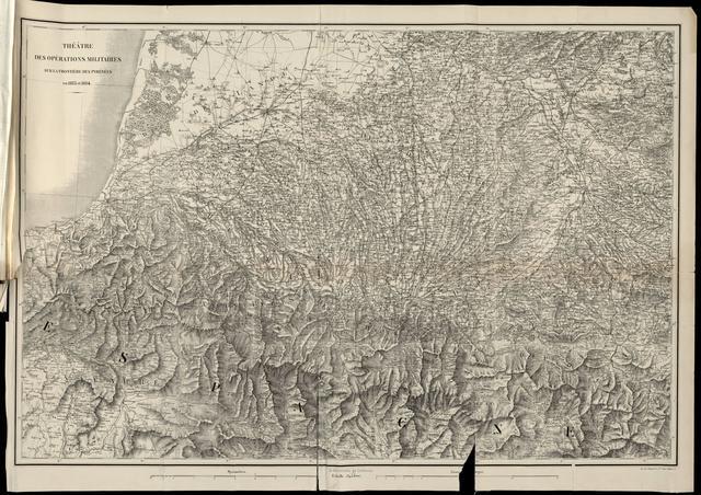 Theathre des Operations Militaires sur la Frontiere des Pyrenees en 1813 et 1814