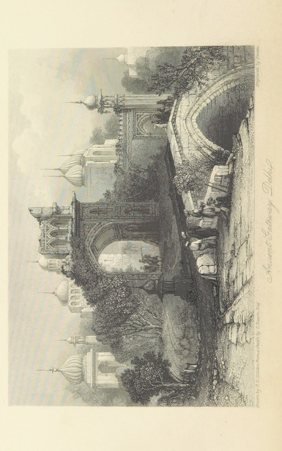 """ancient gateway from """"The Orientalist; containing a series of tales, legends, and historical romances ... With engravings by W. and E. Finden, from sketches by the author, and Captain Meadows Taylor"""""""