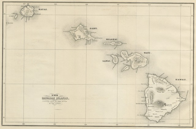 """Hawaiian Islands from """"History of the Hawaiian or Sandwich Islands ..., from the earliest traditionary period to the present time"""""""