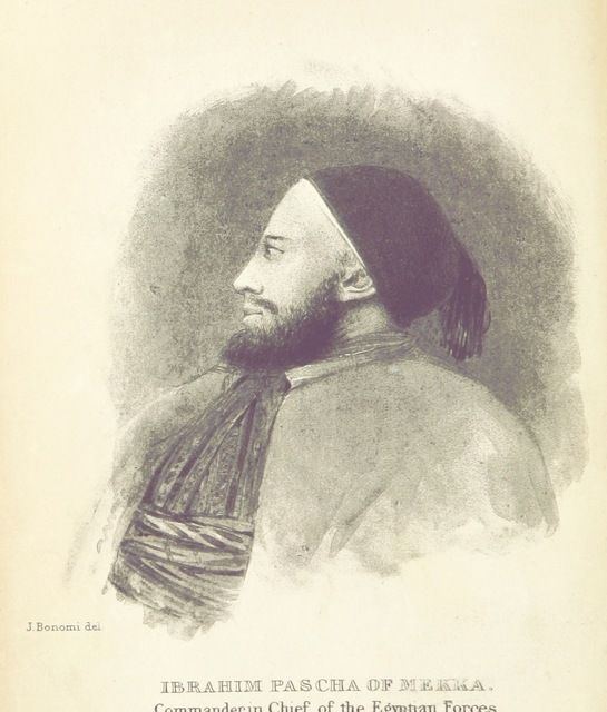 """Ibrahim Pasha from """"The modern History and Condition of Egypt, its climate, diseases, and capabilities, etc., exhibited in a personal narrative of travels in that country"""""""