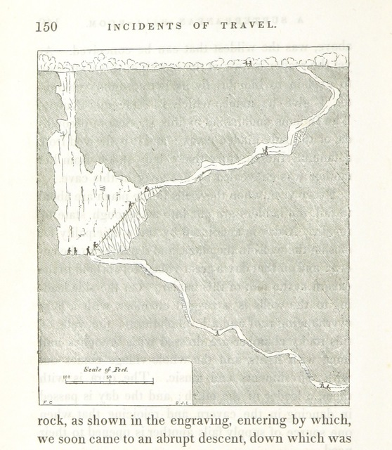 """map from """"Incidents of Travel in Yucatan, etc"""""""
