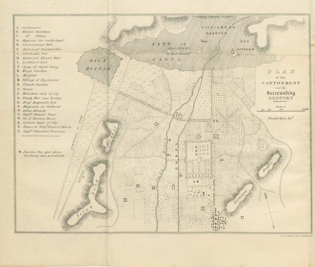 """map from """"The Military Operations at Cabul ... Second edition. [Edited by Edward Eyre.]"""""""