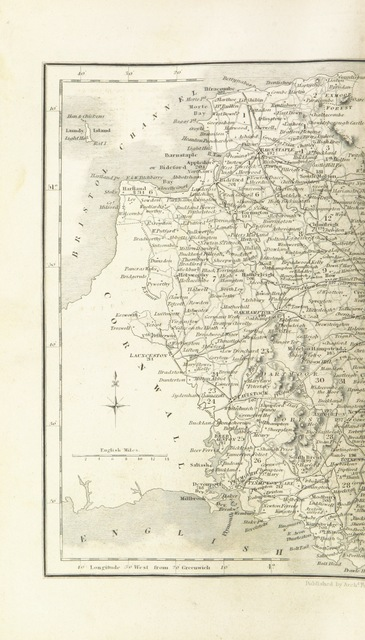 """map from """"The parliamentary gazetteer of England and Wales, adapted to the new Poor-law, franchise, municipal and ecclesiastical arrangements, and compiled with a special reference to the lines of railroad and canal communication, as existing in 1840-43. Illustrated by a series of maps forming a complete county-atlas of England, and by four large maps of Wales. With an appendix containing the results, in detail, of the census of 1841"""""""
