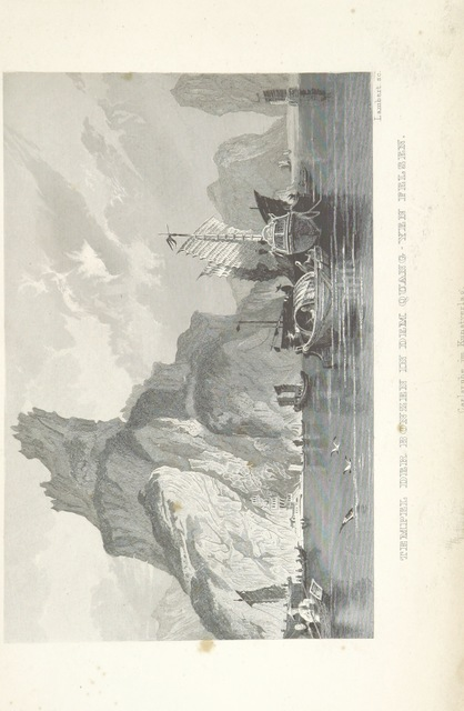 """mountain from """"China, historisch romantisch, malerisch. [A translation of parts of """"China, in a series of views ... By Thomas Allom Esq. with historical and descriptive notes by the Rev. G. N. Wright."""" With a selection from the engravings.]"""""""