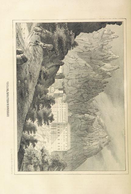 "Santa Maria de Montserrat from ""España pintoresca, artistica, monumental, literaria y de costumbres"""