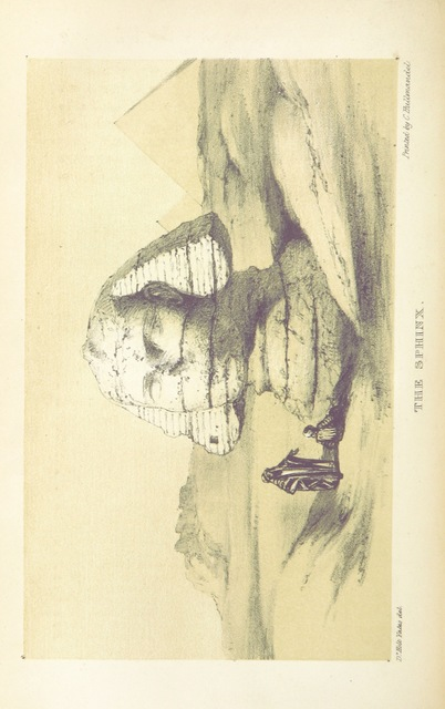 """Sphinx from """"The modern History and Condition of Egypt, its climate, diseases, and capabilities, etc., exhibited in a personal narrative of travels in that country"""""""