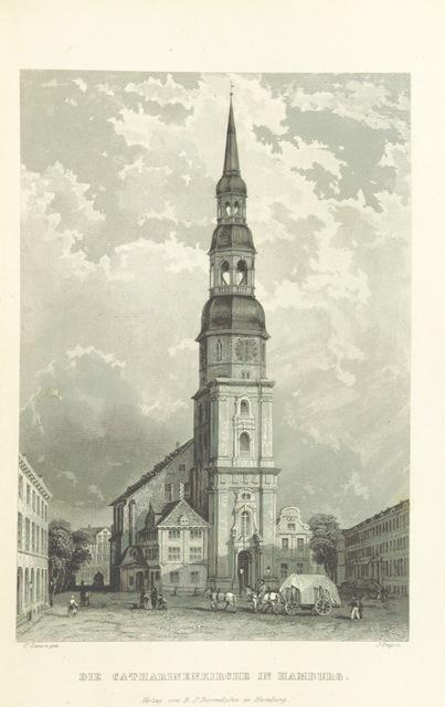 """architecture from """"Hamburg und seine Umgebungen, im 19teⁿ Jahhrundert ... Text vom Oberauditeur F. G. Buek. (Nach der Natur gezeichnet von Carl Alex. Lill u. A.)"""""""