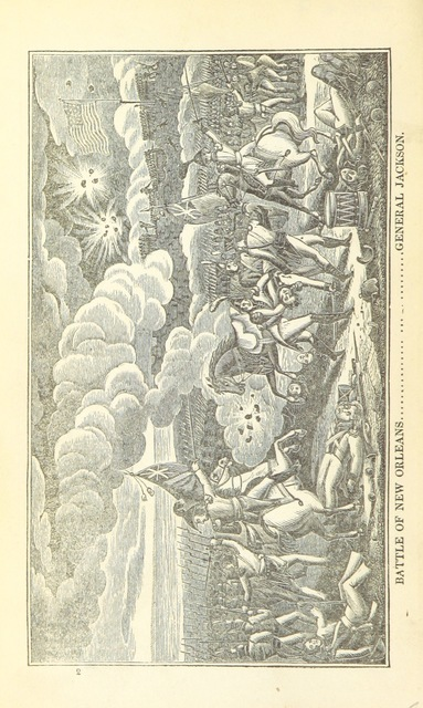 """Battle of New Orleans from """"[History of the late War, between the United States and Great Britain ... Illustrated with plates. Third edition, revised and corrected.]"""""""