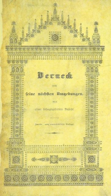 """cover from """"Berneck und seine nächsten Umgebungen ... Zweite, ganz umgearbeitete Auflage"""""""